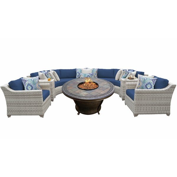 Falmouth 8 Piece Sectional Seating Group with Cushions by Sol 72 Outdoor Sol 72 Outdoor
