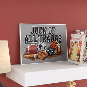 Jock of All Trades Sports Balls The Kids Room by Stupell Art Wall Plaque