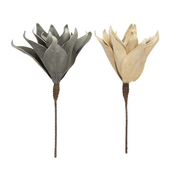 2 Piece Artificial Flower Set by Cole & Grey