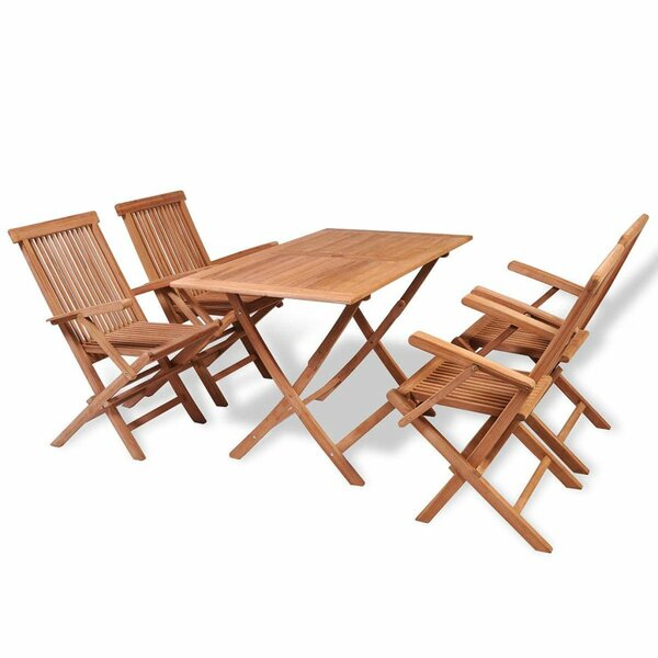 ConCourse Outdoor 5 Piece Teak Dining Set with Cushions by Gracie Oaks