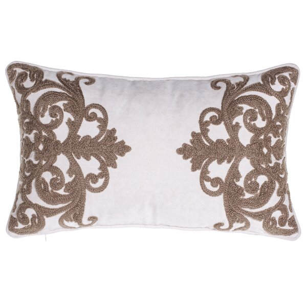 Versailles Crewel Stitch Lumbar Pillow by 14 Karat Home Inc.