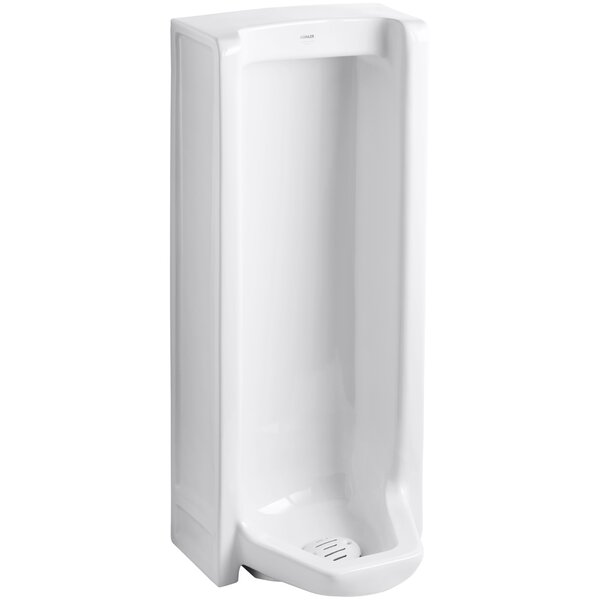 Branham Washout Floor-Mount 1 GPF Urinal with Rear Spud by Kohler