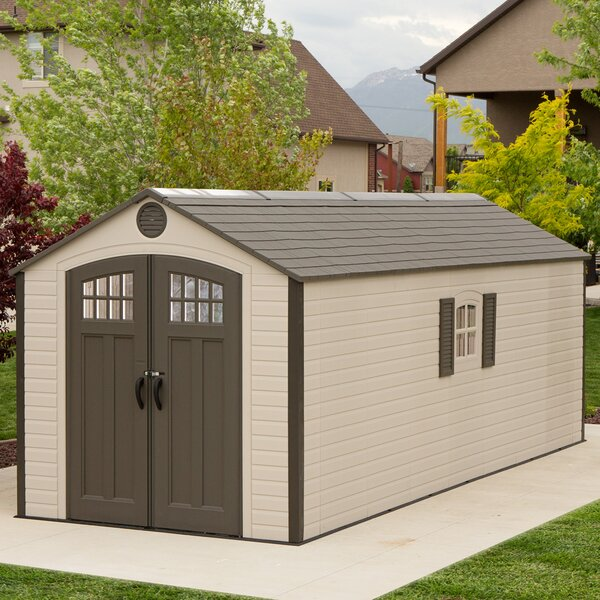 7 ft. 8 in. W x 19 ft. 8 in. D Plastic Storage Shed by Lifetime