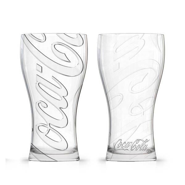 Coca-Cola Affinity Fountain 16 oz. Glass Pint Glasses (Set of 2) by PB