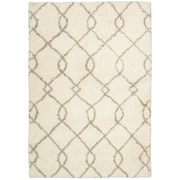 North Moore Hand-Tufted Ivory/Tan Area Rug by Brayden Studio