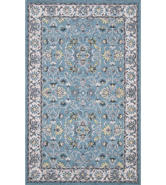 Iyed Hand-Tufted Turquoise Area Rug by World Menagerie