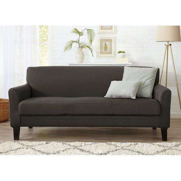 Best #1 Box Cushion Sofa Slipcover By Winston Porter New Design