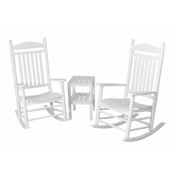 Jefferson 3-Piece Rocking Chair Set by POLYWOOD®