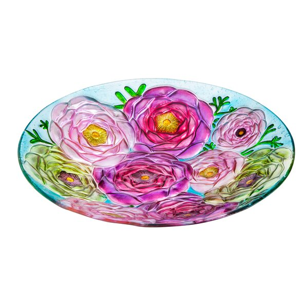 Bouquet of Flowers Birdbath by Evergreen Flag & Garden