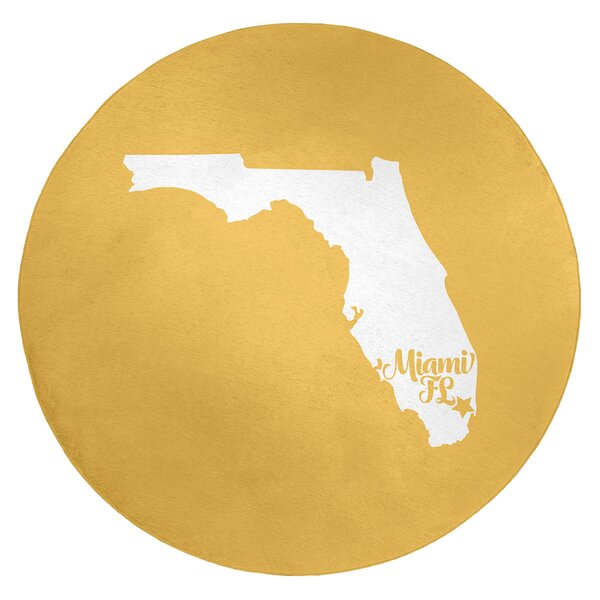 Miami Florida Poly Chenille Rug