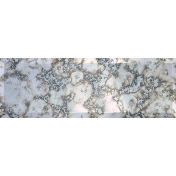 Gatsby Mirror Beveled 4'' x 12'' Glass Subway Tile by The Bella Collection