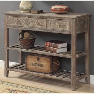 Clearance Warne 3 Drawer Console Table By August Grove