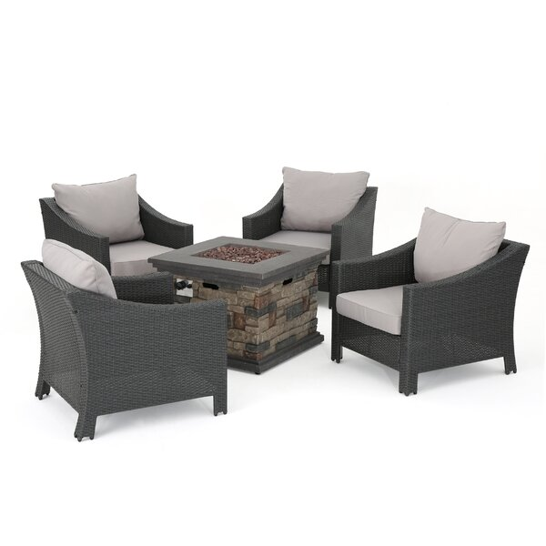 Portola 5 Piece Seating Group with Cushions by Sol 72 Outdoor