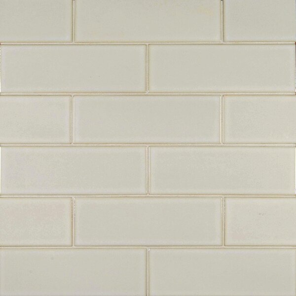 4 x 12 Glazed Ceramic Tile in Antique White by MSI
