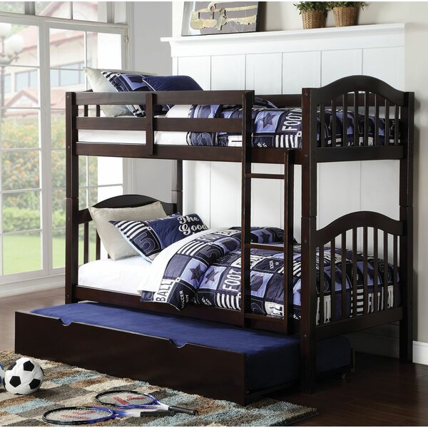Beeching Twin over Twin Bunk Bed with Trundle by Harriet Bee