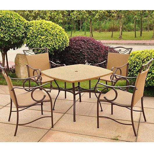 Stapleton 5 Piece Dining Set by Charlton Home