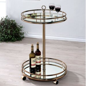 Curland Contemporary Serving Bar Cart by Ivy Bronx