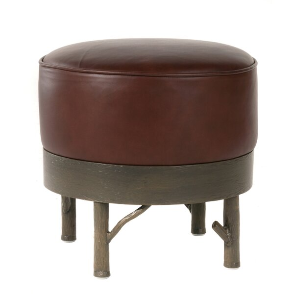 Roser Leather Ottoman by Loon Peak