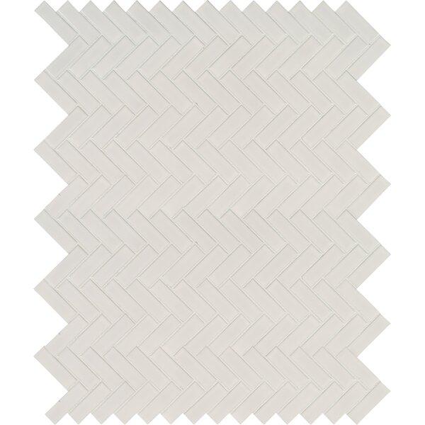 Domino Herringbone Mesh Mounted Porcelain MosaicTi