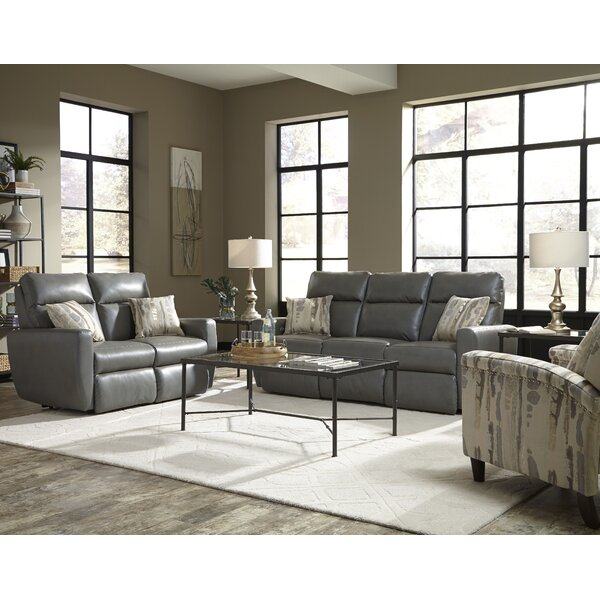Knockout Leather Reclining Sofa by Southern Motion