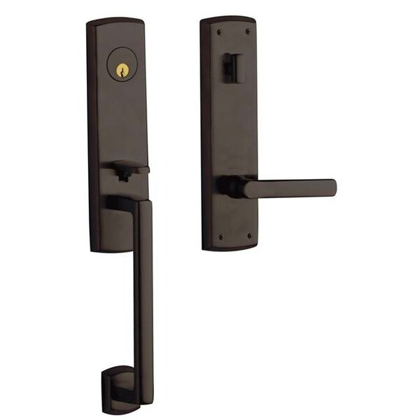 Soho Full Dummy Handleset with Interior Lever and Trim by Baldwin