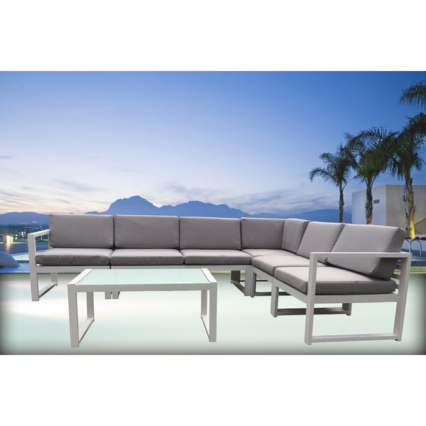 Vincenza 6 Piece Sectional Set with Cushions by Orren Ellis