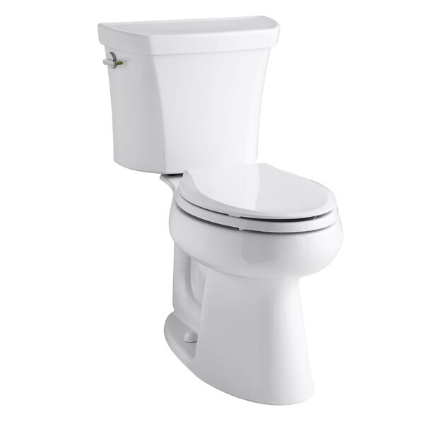 Highline Comfort Height Two-Piece Elongated Dual-Flush Toilet with Class Five Flush Technology and Left-Hand Trip Lever by Kohler