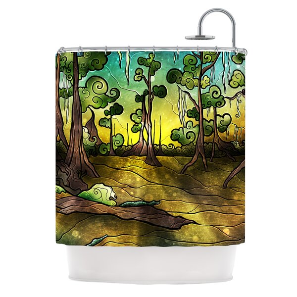 Alligator Swamp Shower Curtain by KESS InHouse