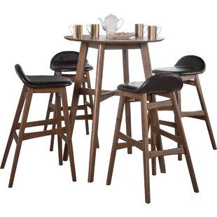 Bar tables sets modern contemporary designs allmodern adriana 5 piece pub table set watchthetrailerfo
