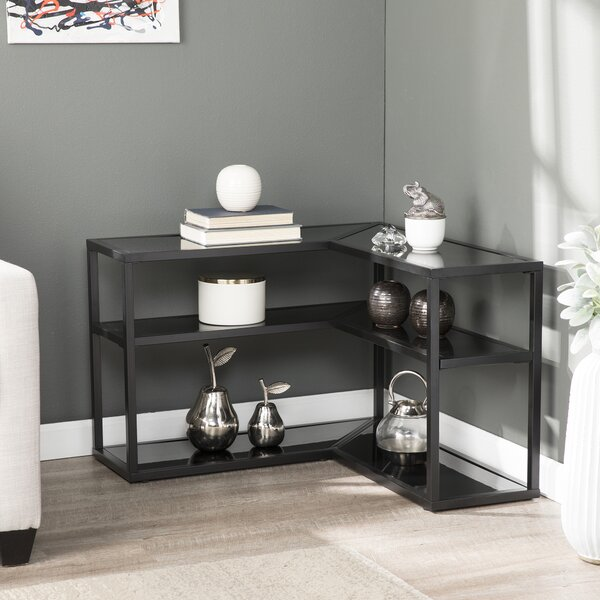 Deals Price Kliebert Wrap Sled End Table With Storage