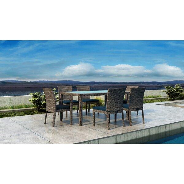 Gilleland 7 Piece Dining Set with Sunbrella Cushion by Orren Ellis