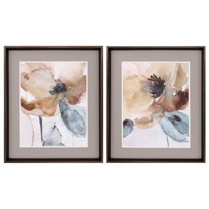 Poppy 2 Piece Framed Painting Print Set by Darby Home Co