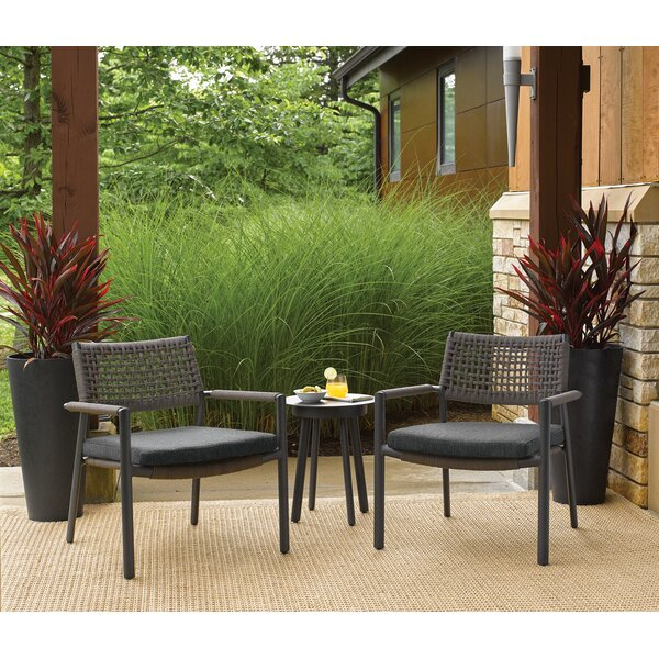 Campagna 3 Piece Conversation Set with Cushions by George Oliver