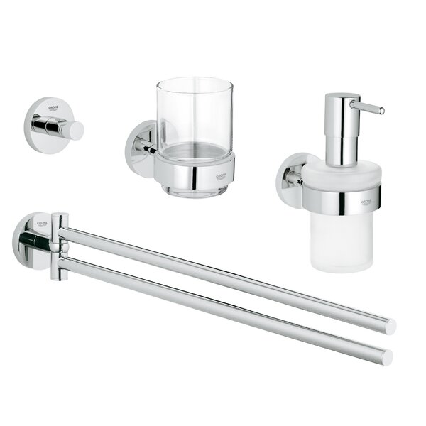 Essentials 4 Piece Bathroom Hardware Set by Grohe