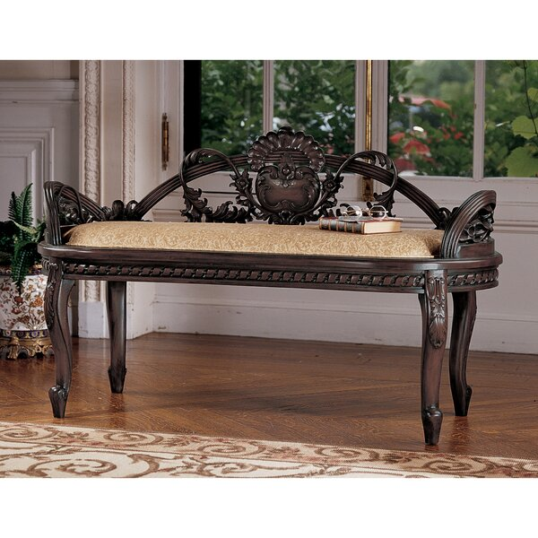 Verona Filigree Mahogany Bench by Design Toscano