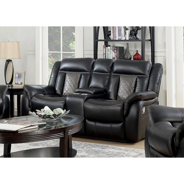 Get Great Diesel Reclining Loveseat by Ebern Designs by Ebern Designs