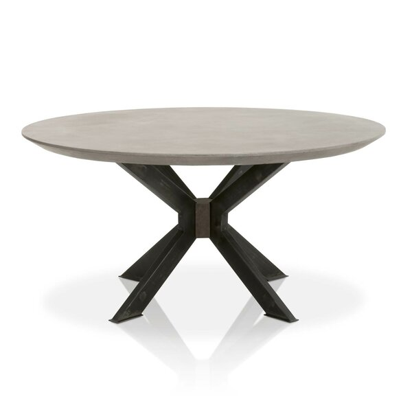 Rocket Concrete Top Round Dining Table by 17 Stories