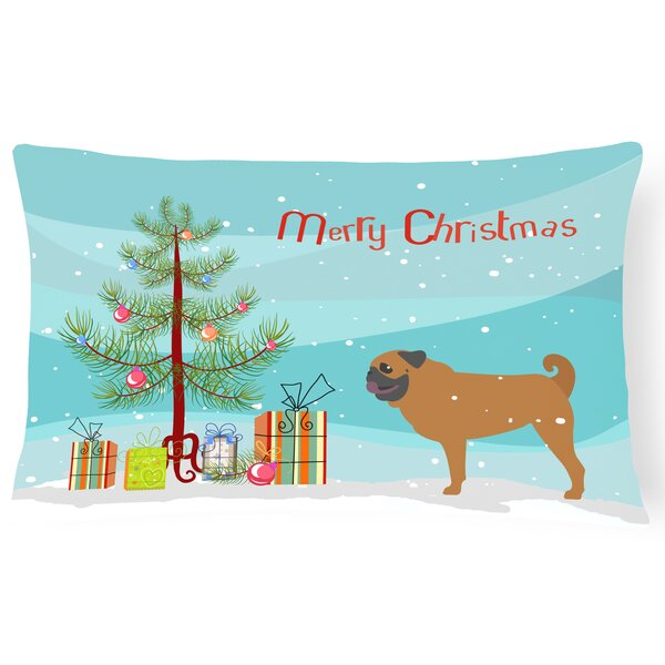 Pug Indoor/Outdoor Lumbar Pillow by The Holiday Aisle
