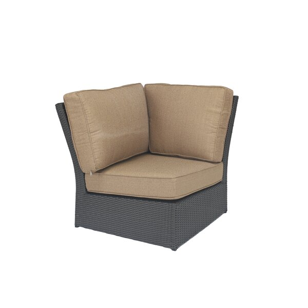 Kissling Wicker Corner Patio Chair with Cushions by Alcott Hill