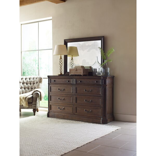 8 Drawer Double Dresser with Mirror by Rachael Ray Home