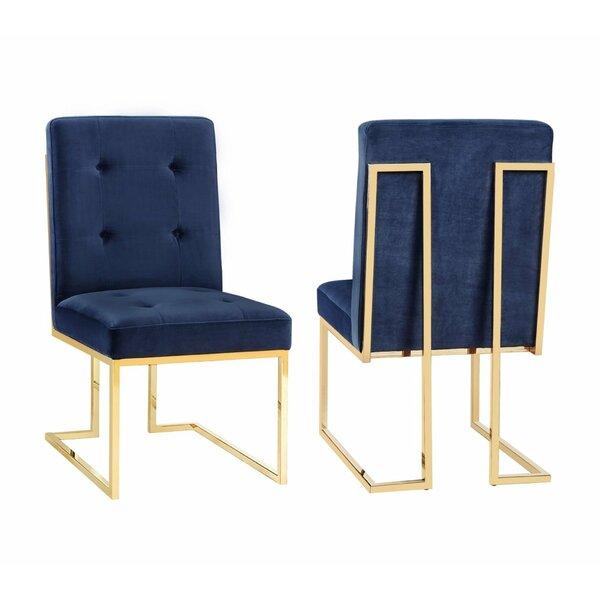 Sherri Velvet Side Chair (Set of 2) by Everly Quinn