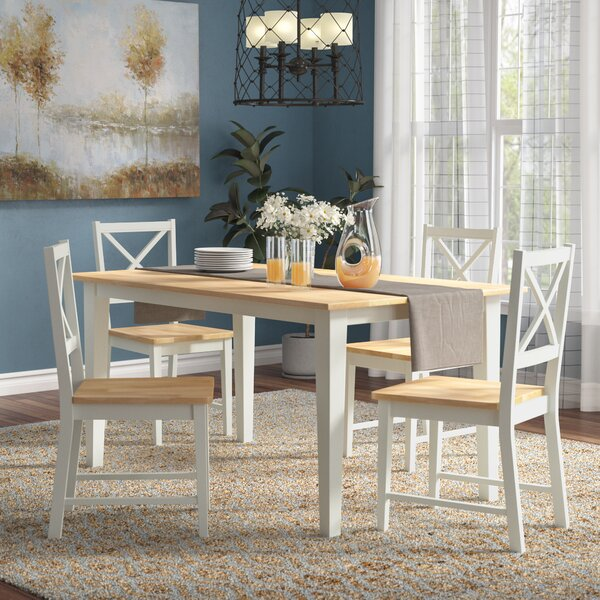 Livesay Crossback 5 Piece Dining Set by August Grove