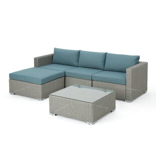 Cullum 5 Piece Sectional Set with Cushions By Rosecliff Heights