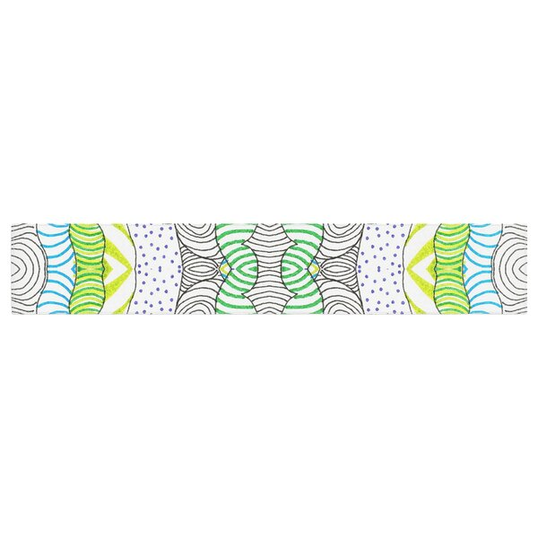 Monika Strigel Worm Land Table Runner by East Urban Home