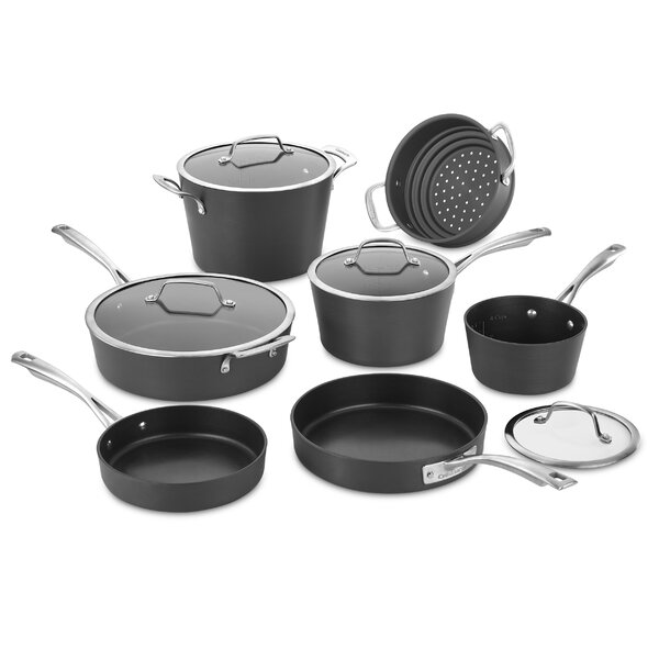 Conocal Hard Anodized 11 Piece Non-Stick Cookware Set by Cuisinart