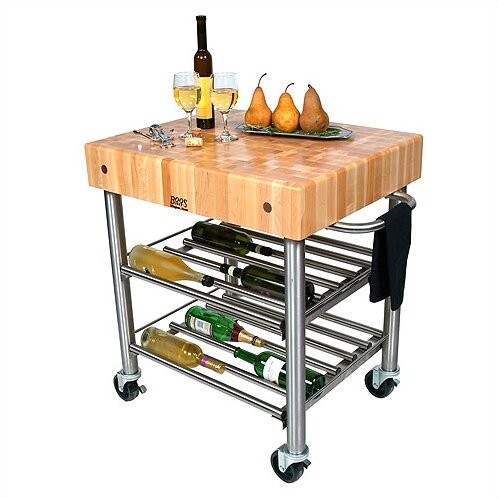 Cucina Americana Kitchen Cart With Butcher Block Top By John Boos Fresh