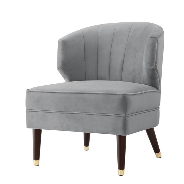 Alfonso Velvet Wingback Chair By Nicole Miller