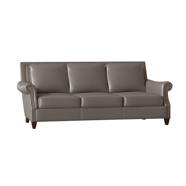 Beautiful Classy Bates Genuine Leather Sofa by Bradington-Young by Bradington-Young