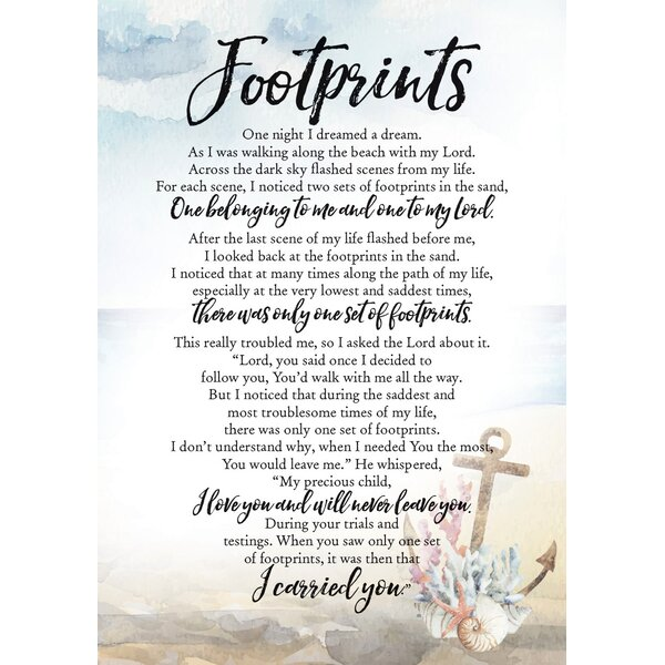 Woodland Grace Footprints Textual Art on Wood by Dexsa