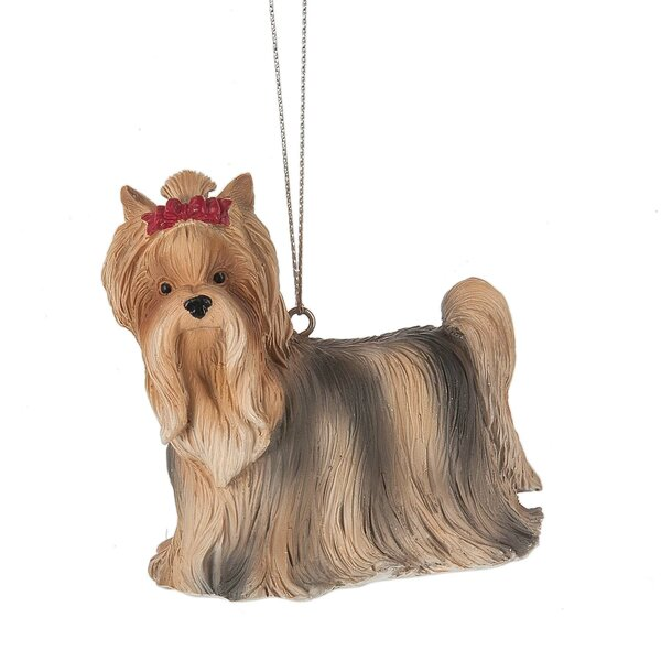 Yorkshire Terrier Hanging Figurine by The Holiday